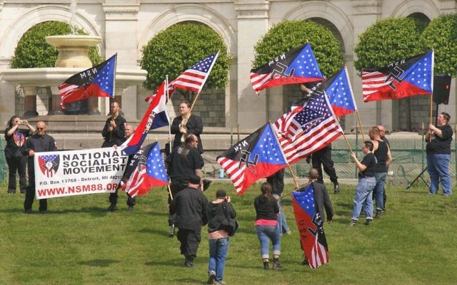 A neo-Nazi rally in the United States