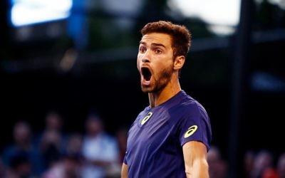 Noak Rubin celebrates his round win. Picture: Peter Haskin/AJN