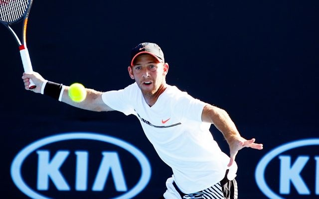 Dudi Sela suffered a first round exit on Monday evening. Picture: Peter Haskin/AJN