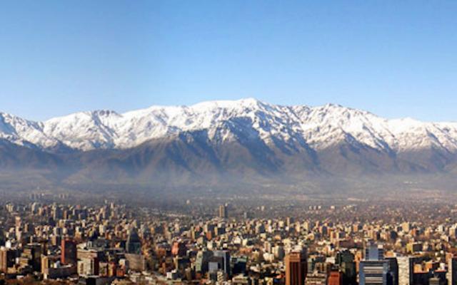 A panoramic of Santiago