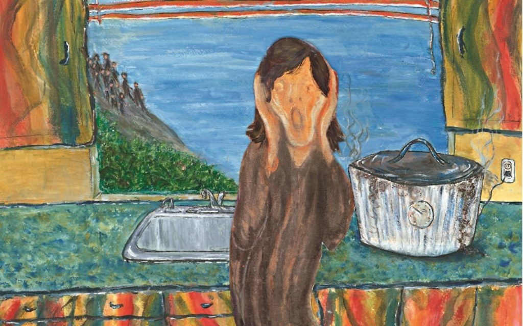 13 Guests and the Cholent Burnt is based on Munch's The Scream