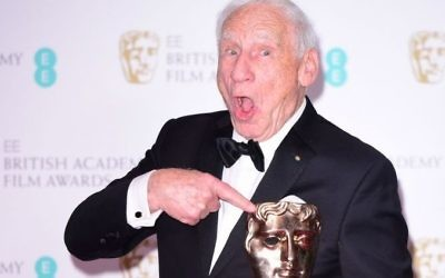 Mel Brooks with the Lifetime Achievement Award at British Academy Film Awards (Photo credit: Ian West/PA Wire)