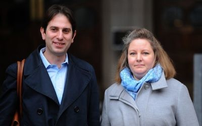 Rebecca Steinfeld and Charles Keidan outside the Royal Courts of Justice in London (Photo credit: Charlotte Ball/PA Wire)