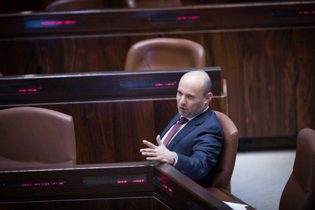 Pro-Settlement right wing leader Naftali Bennett during the debate