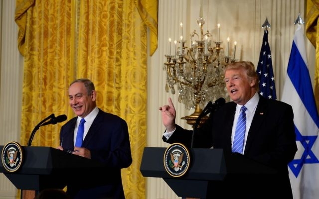 Israeli Prime Minister Benjamin Netanyahu , with US President Donald J. Trump in of the White House   (Photo credit: Avi Ohayon/GPO via JINIPIX)