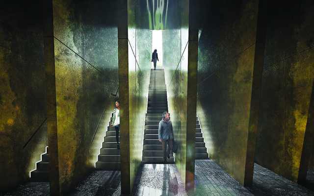 Adjaye Associates- (UK) - 'Our proposal aims to reveal these layers not through a static symbol commemorating the past, but through an organic living monument that evolved over time, capable of both affecting and being affected by its users '