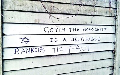 Antisemitic graffiti in London