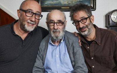 Ivor and David Baddiel, with Dad Colin