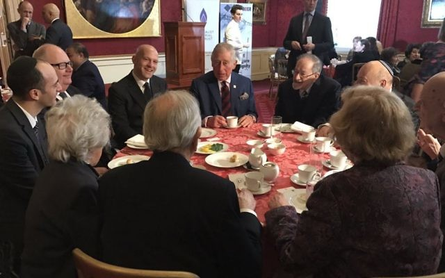 HMDT patron Prince Charles meeting survivors of the Holocaust and other genocides at St James' Palace