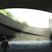 Diamond Schmitt Architects (Canada) - 'The subtlety of the design of the UK Holocaust Memorial gradually reveals the power of the opposing forces that created the descent into a horror of hitherto unimaginable scale'