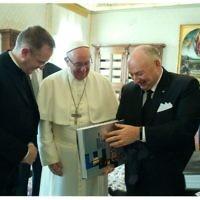 EJC Pope meeting book of the Jewish communities
