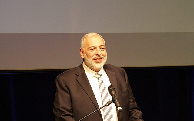 Rabbi David Meyer speaking during the Jewish Schools Awards (Picture credit: Joel Seshold)