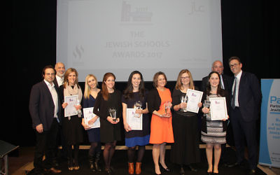 The top teachers pose with their awards!   Photo credit: Joel Seshold