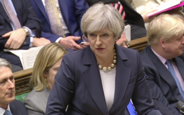 Theresa May speaking at Prime Minister's Questions