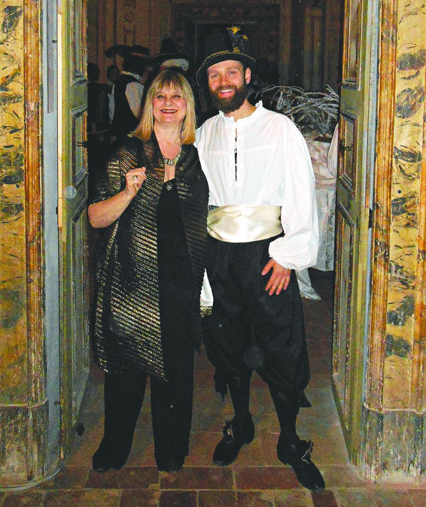 At a medieval dinner in Foligno