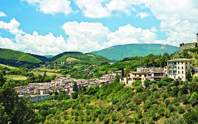 Panoramic view of Foligno. Umbria. Italy.