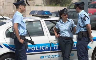 Israeli police officers