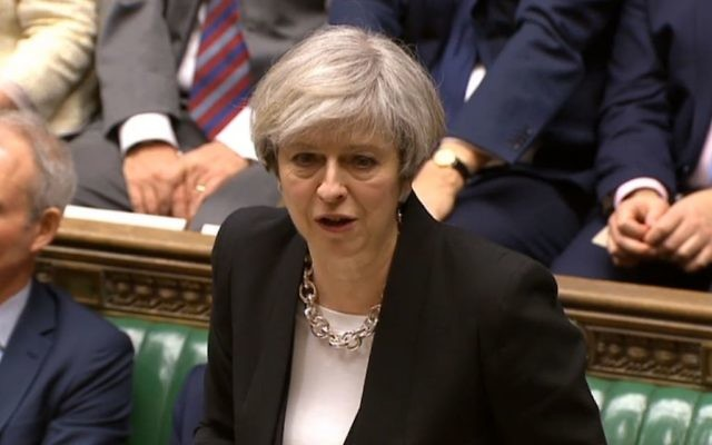 Prime Minister Theresa May speaking to MPs in the House of Commons in the aftermath of yesterday's terror attack on the Palace of Westminster. (Photo credit: PA Wire)