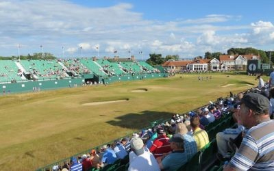 18th hole at Muirfield at the Open 2013
