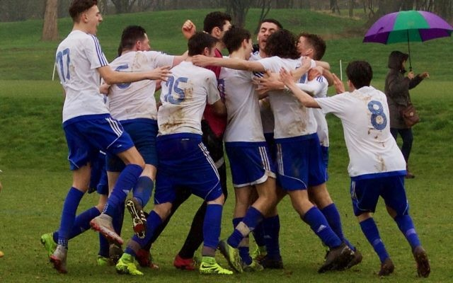 Lions U21s celebrate their dramatic penalty shoot-out win