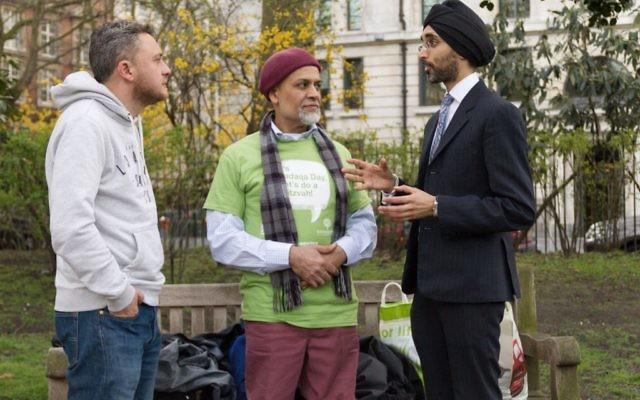 Jewish, Muslim and Sikh volunteers on Sadaqa Day
