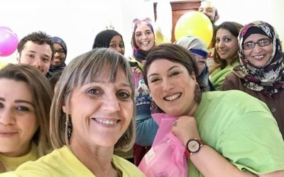 Mitzvah Day founder Laura Marks taking part in Sadaqa Day