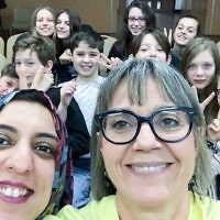 Jewish and Muslim volunteers on Sadaqa Day, including Laura Marks, founder of Mitzvah Day (centre-right)