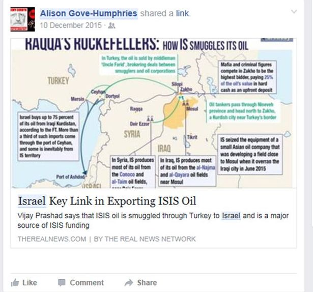 A screenshot of the post shared by Alison Gove-Humphries (Screenshot via Birmingham Mail)