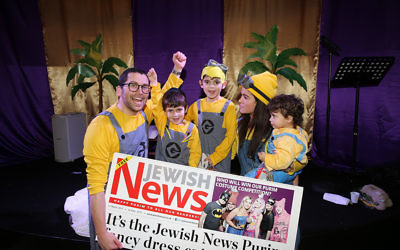 Rabbi James Proops at Mill Hill Synagogue with his family  Photo credit: Marc Morris Photography