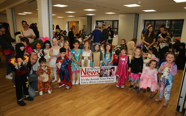 Youngsters at Mill Hill synagogue in fancy dress   Photo credit: Marc Morris Photography