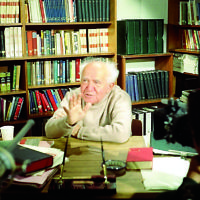 Ben-Gurion  mid interview (1968)  Interview Photo by Malcolm Stewart