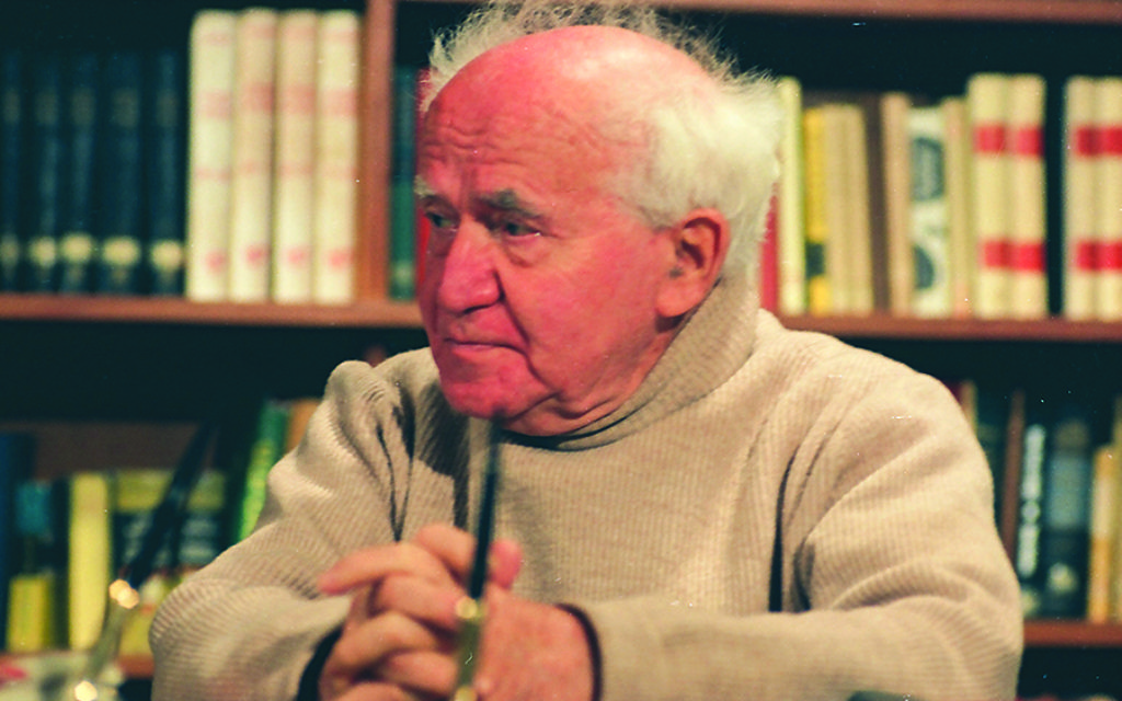 Ben-Gurion on the set of the 1968 Interview  Photo Courtesy of David Marks