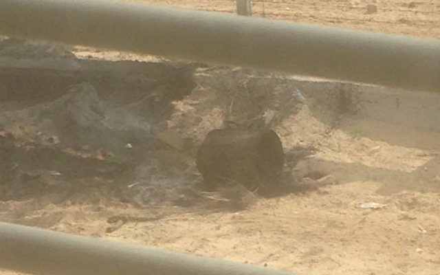 2 explosive devices found near the Gaza security fence were defused (Source IDF on Twitter)