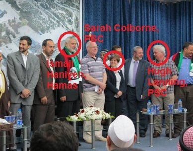 Hugh Lanning pictured with Hamas chief Ismail Haniyeh