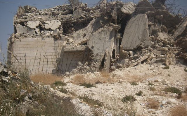 A Palestinian home after demolition by Israeli military forces.