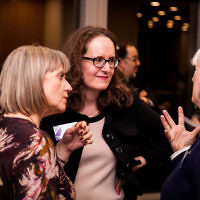 Laura Marks - founder of Mitzvah Day (left), and CCJ director Elizabeth Harris-Sawczenko