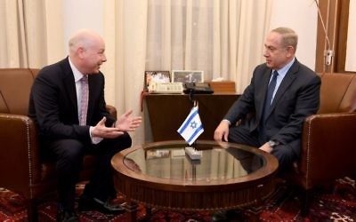 Jason Greenblatt meeting with Israeli PM Benjamin Netanyahu in March 2017.