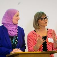 Jullie Siddiqi and Laura Marks of Nisa-Nashim  (Picture credit: Yakir Zur)
