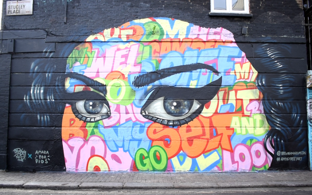 Striking close-up of Amy's face in Stucley Place by Captain Kris and Amara Por Dios