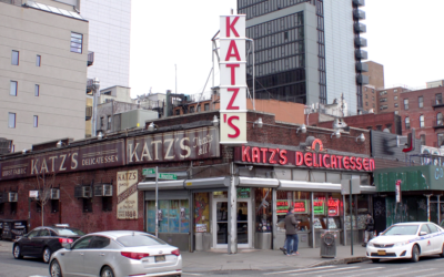 New York's iconic Katz's Deli.