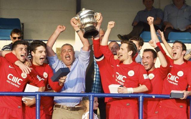 Last season's Peter Morrison Trophy winners, Hendon United A