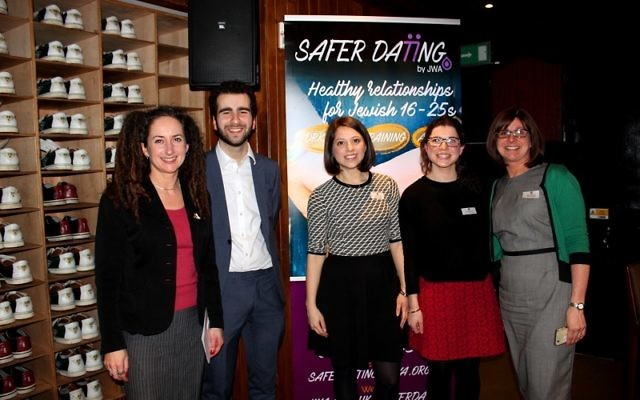 Jewish Women's Aid this week launched its Safer Dating initiative. From left: Dr Pam Alldred, Joel Salmon, Claire Godley, Sarah Manuel and Naomi Dickson.