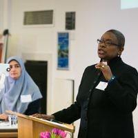 Revered Rose Hudson-Wilkin giving her keynote address at the conference  (Picture credit: Yakir Zur)