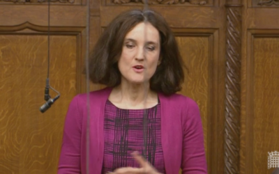 Theresa Villiers addressing parliament