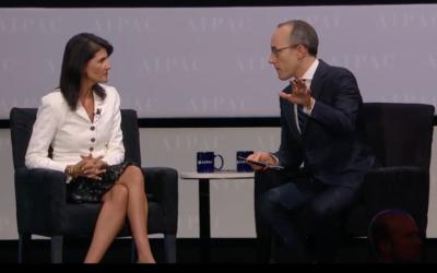 Nikki Haley speaking at AIPAC 2017