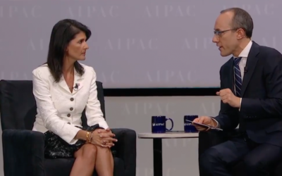 Nikki Haley speaking at AIPAC 2017