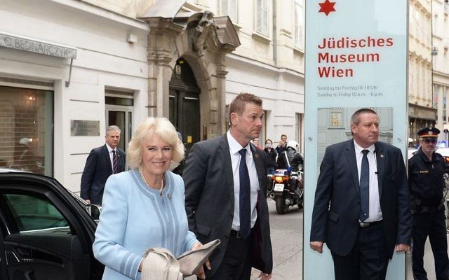 The Duchess of Cornwall arrives at the Jewish Museum, in the centre of Vienna, Austria, on the ninth day of a European tour. (Photo credit should read: John Stillwell/PA Wire)