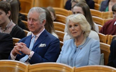 The Prince of Wales and Duchess of Cornwall listen to an orchestra play at the Musikverein concert hall in Austria on the ninth day of their European tour. (Photo credit: John Stillwell/PA Wire)