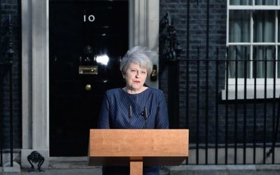 Prime Minister Theresa May makes a statement in Downing Street, London, announcing a snap general election on June 8.   (Photo credit: John Stillwell/PA Wire)