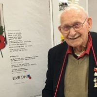 Ron Jones marking his centenary.